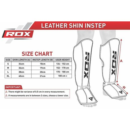 RDX SPORTS RDX T4 LEATHER SHIN INSTEP GUARDS