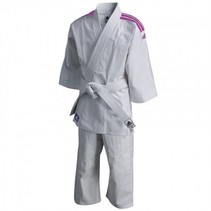 Judopak kind J200E Evolution wit/roze