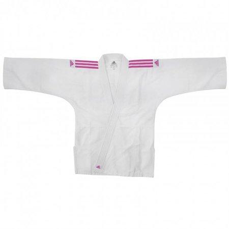 Adidas Judopak kind J200E Evolution wit/roze