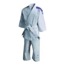 Judopak kind J200E Evolution wit/blauw
