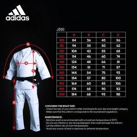 Adidas Judopak kind Club J350K wit/zwart