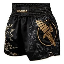 HAYABUSA KICKBOKS PANTS FALCON MUAY THAI SHORT BLACK