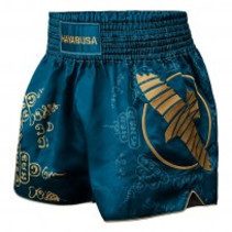 HAYABUSA KICKBOKS PANTS FALCON MUAY THAI SHORT BLACK - Bleu