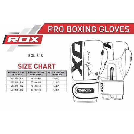 RDX SPORTS RDX S4 BOXING GLOVES
