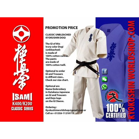 ISAMI ISAMI Classic Kyokushin Karate Jas