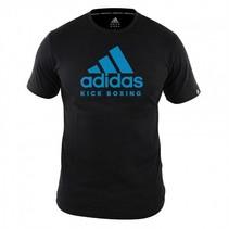 Adidas Kinder T-Shirt Kickboxing Community Zwart/Blauw