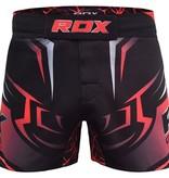 RDX SPORTS RDX R8 MMA Shorts zwart / rood
