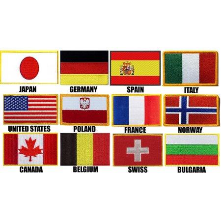 ISAMUFIGHTGEAR Landen vlag Borduring