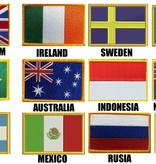 ISAMUFIGHTGEAR Country flag Embroidery