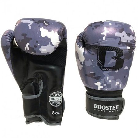 BOOSTER Booster kids (kick) boxing gloves - BG Youth Camo Grey