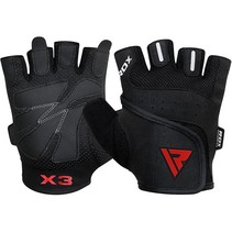 RDX S2 Half Finger Padded Bodybuilding Workout Gym Handschoenen
