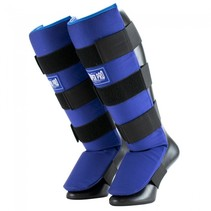 Super Pro Combat Gear Shin Guards Savior Blue / White