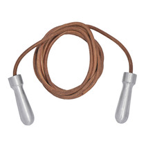 Tuf-Wear Alloy Handle Leather Skipping Rope - 9ft