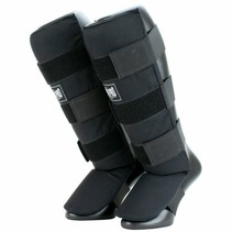 Super Pro Combat Gear Shin Guards Savior Black/White