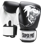 Super Pro Super Pro Combat Gear Undisputed Punching Bag Gloves Leather Black / White