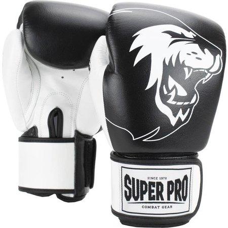 Super Pro Super Pro Combat Gear Undisputed Bokszakhandschoenen Leder Zwart/Wit