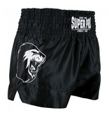 Super Pro Super Pro Combat Gear Thai and Kickboxing Shorts Hero Black / White