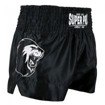 Super Pro Combat Gear Thai and Kickboxing Shorts Hero Black / White