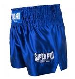 Super Pro Super Pro Combat Gear Thai en Kickboksshort Hero Blauw/Wit