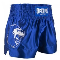 Super Pro Combat Gear Thai and Kickboxing Shorts Hero Blue/White