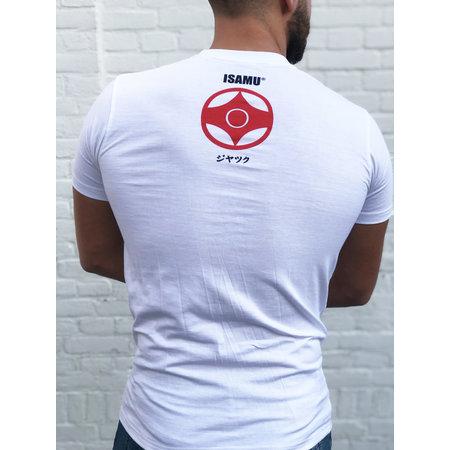 ISAMU Kyokushin Fighter 'Jakku' T-shirt White