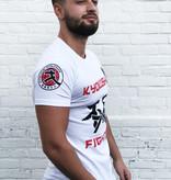 ISAMU Kyokushin Fighter 'Jakku' T-shirt Wit