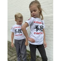 Kyokushin Kids  Fighter 'Jakku' T-shirt Wit