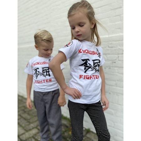 ISAMU Kyokushin Kids  Fighter 'Jakku' T-shirt White