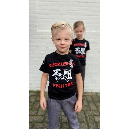 ISAMU Kyokushin Kids  Fighter 'Jakku' T-shirt Black