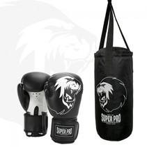 Super Pro Combat Gear Punching Bag Set Junior Black / White