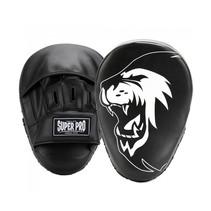 Super Pro Combat Gear Handpads Gebogen PU Zwart/Wit