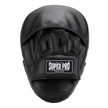 Super Pro Super Pro Combat Gear Handpads Curved PU Black/White