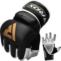 RDX Sports T2 Lederen MMA Handschoenen - Goud / Zwart