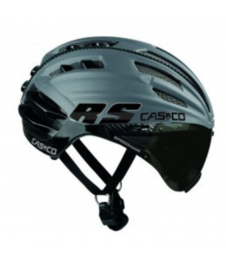 Casco Casco SpeedAiro RS Black - Silver (vautron visor)