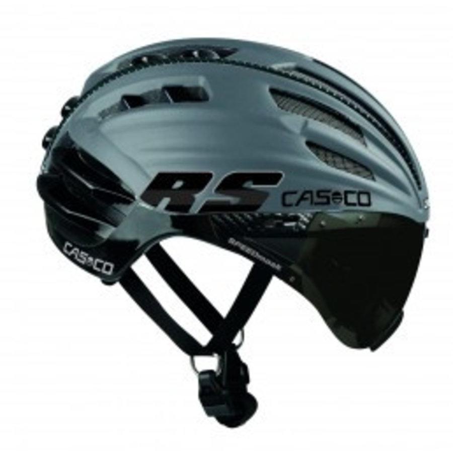 Casco SpeedAiro RS Noir - Argent (visière vautron)