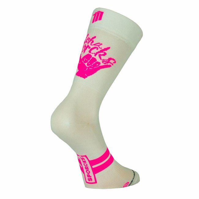 Sporcks Aloha White Bike Classic Cyclingsocks