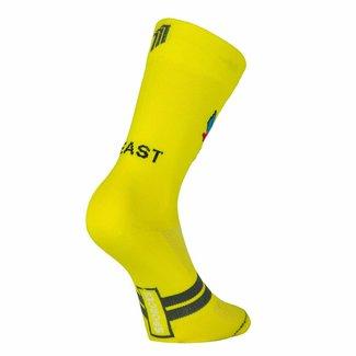 Sporcks Chaussettes de cyclisme Classic Bike de bête en jaune
