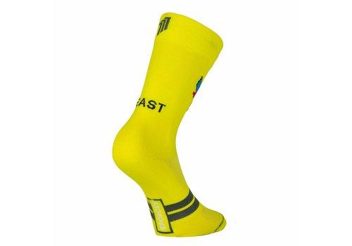 Chaussettes de cyclisme Classic Bike de bête en jaune