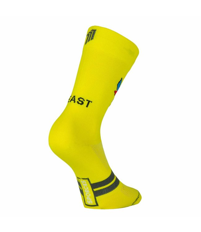Sporcks Beast Mode Yellow Bike Classic Cycling Socks