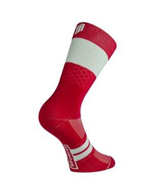 Sporcks Calcetines de ciclismo Marie Blanque Pro Elite rojo vino