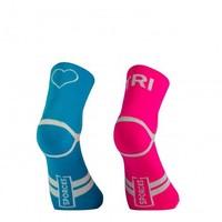 Tri Love Pink Blue Triathlonsocks