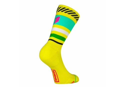 Sporks Lima Limon Yellow Running socks