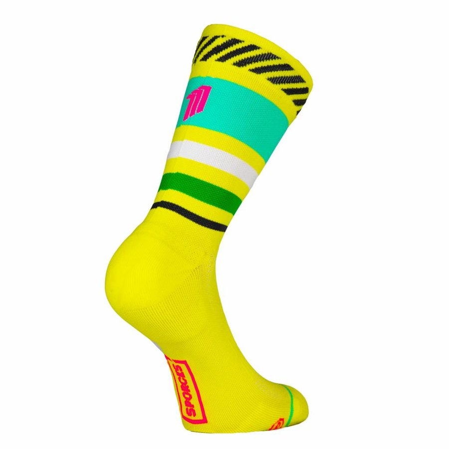 Sporks Lima Limon Yellow Running socks-1