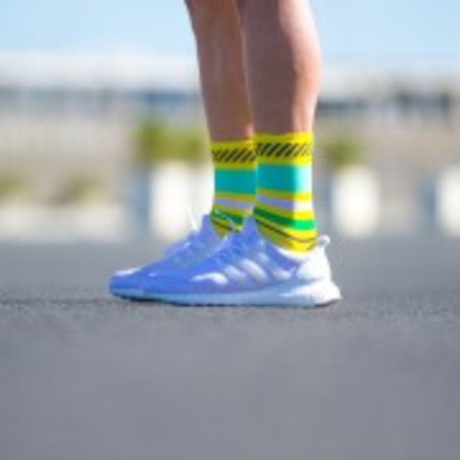 Sporks Lima Limon Yellow Running socks-2