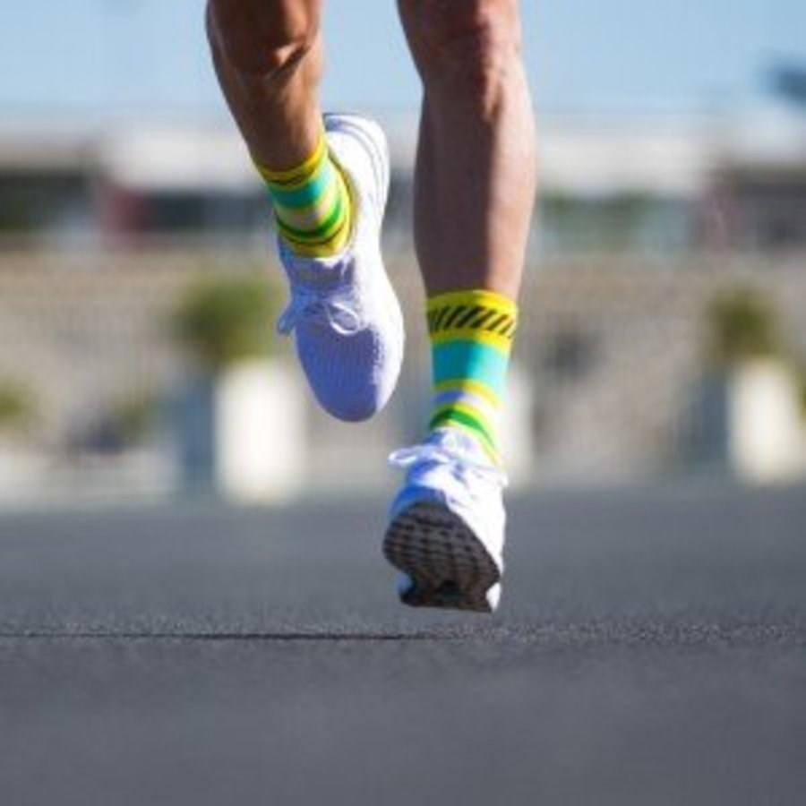 Sporks Lima Limon Yellow Running socks-3