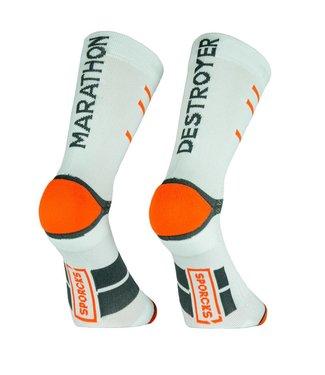 Sporcks Marathon Destroyer White Running Socks