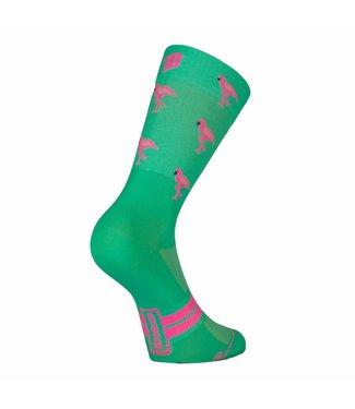 Sporcks Sporcks Flamingo Green Ultraleichte Radsocken