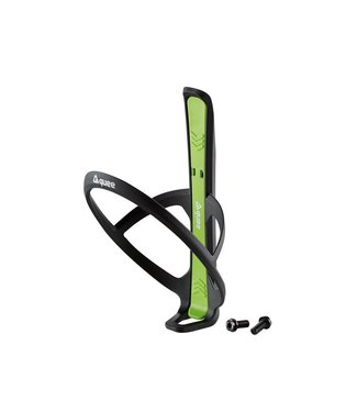 GUEE Guee Qing Carbon bottle cage + 2x tire lever green