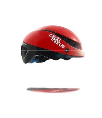 Cádomotus Casco da ciclismo Omega Aerospeed Rosso