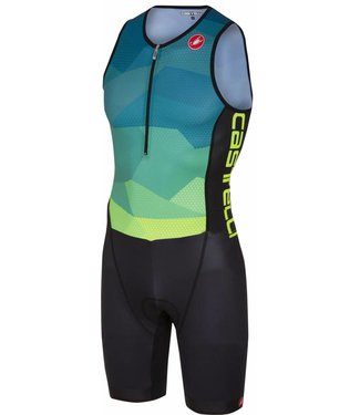 Castelli Castelli Core Tri Suit Men Green/Blue/Yellow